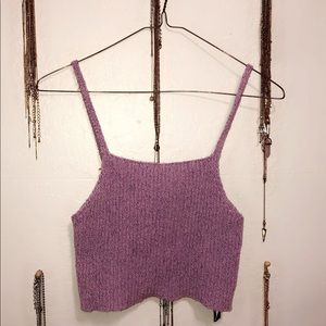 Purple crop top